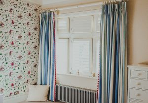 nursery pleated curtains