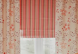 roman blind and curtains