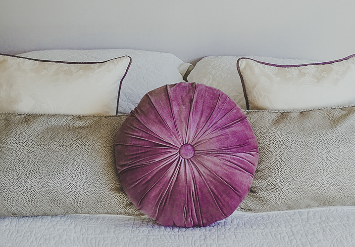 Bedroom cushions and soft furnishings