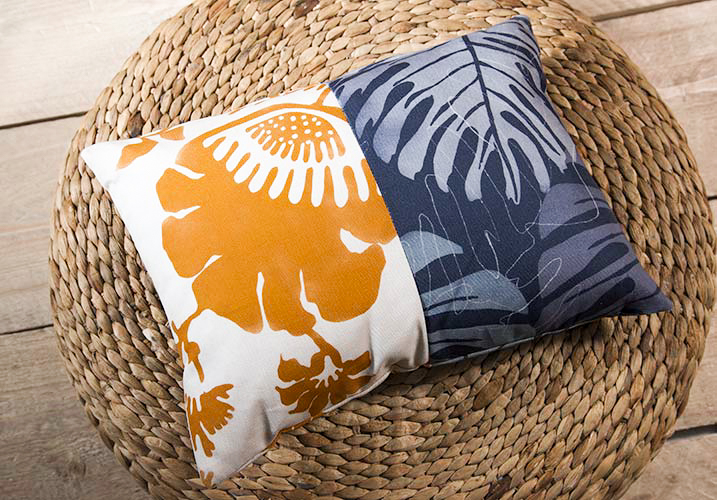 Two fabric style Cushion - Gallery
