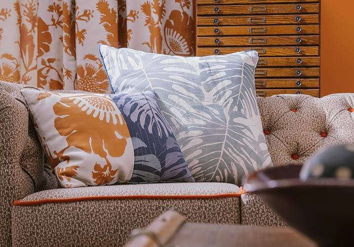 cushions on sofa - Gallery
