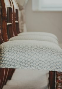Re - upholstered dining chairs