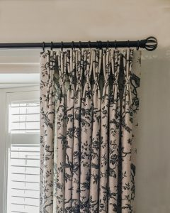 French-pleat curtains
