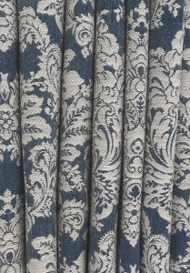 Navy blue and cream curtain fabric  209x300 - Gallery