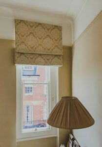 Roman blind made and designed for a bedroom window 209x300 - Gallery