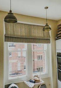 wide roman blind for a kitchen window 209x300 - Gallery