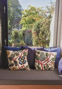 window seat cushion in grey with fabric cushions 209x300 - Gallery