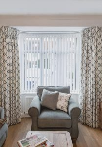 Duck egg and cream long pleat curtains 209x300 - Gallery