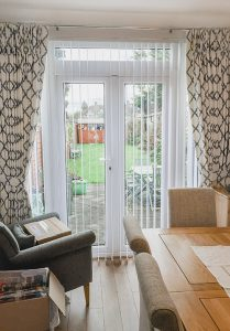 Long cream and duck egg curtains 209x300 - Gallery